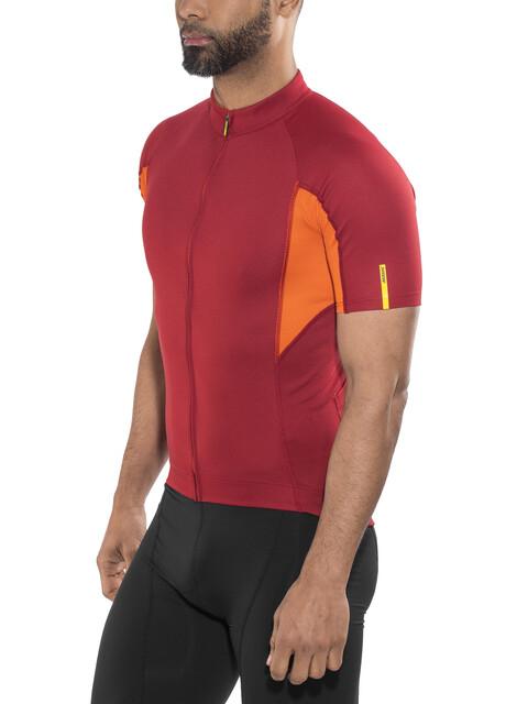Mavic Aksium Kortærmet cykeltrøje Herrer orange/rød
